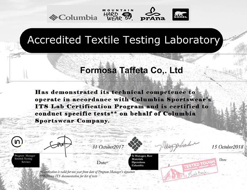 Ftc Columbia Certificate